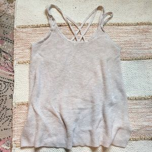 American Eagle Criss Cross Front Sweater Tank